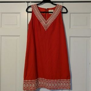 Red Linen Shift Dress by kate spade